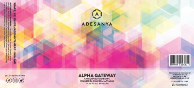 Alpha Gateway Label at Adesanya Mead and Microbrewery