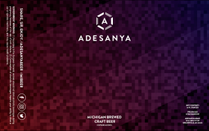 Craft Beer Label at Adesanya Mead and Microbrewery