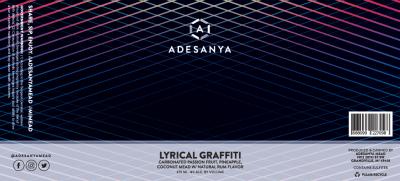 Lyrical Graffiti Label at Adesanya Mead and Microbrewery