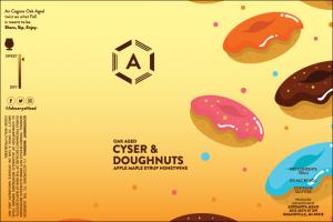 Cyser & Doughnuts Label at Adesanya Mead and Microbrewery
