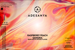Raspberry Peach Sangria Label at Adesanya Mead and Microbrewery