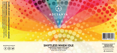 Shiftless When Idle Label at Adesanya Mead and Microbrewery