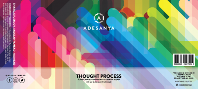 Thought Process Label at Adesanya Mead and Microbrewery