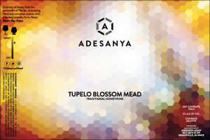 Tupelo Blossom Mead Still Traditional Label at Adesanya Mead and Microbrewery